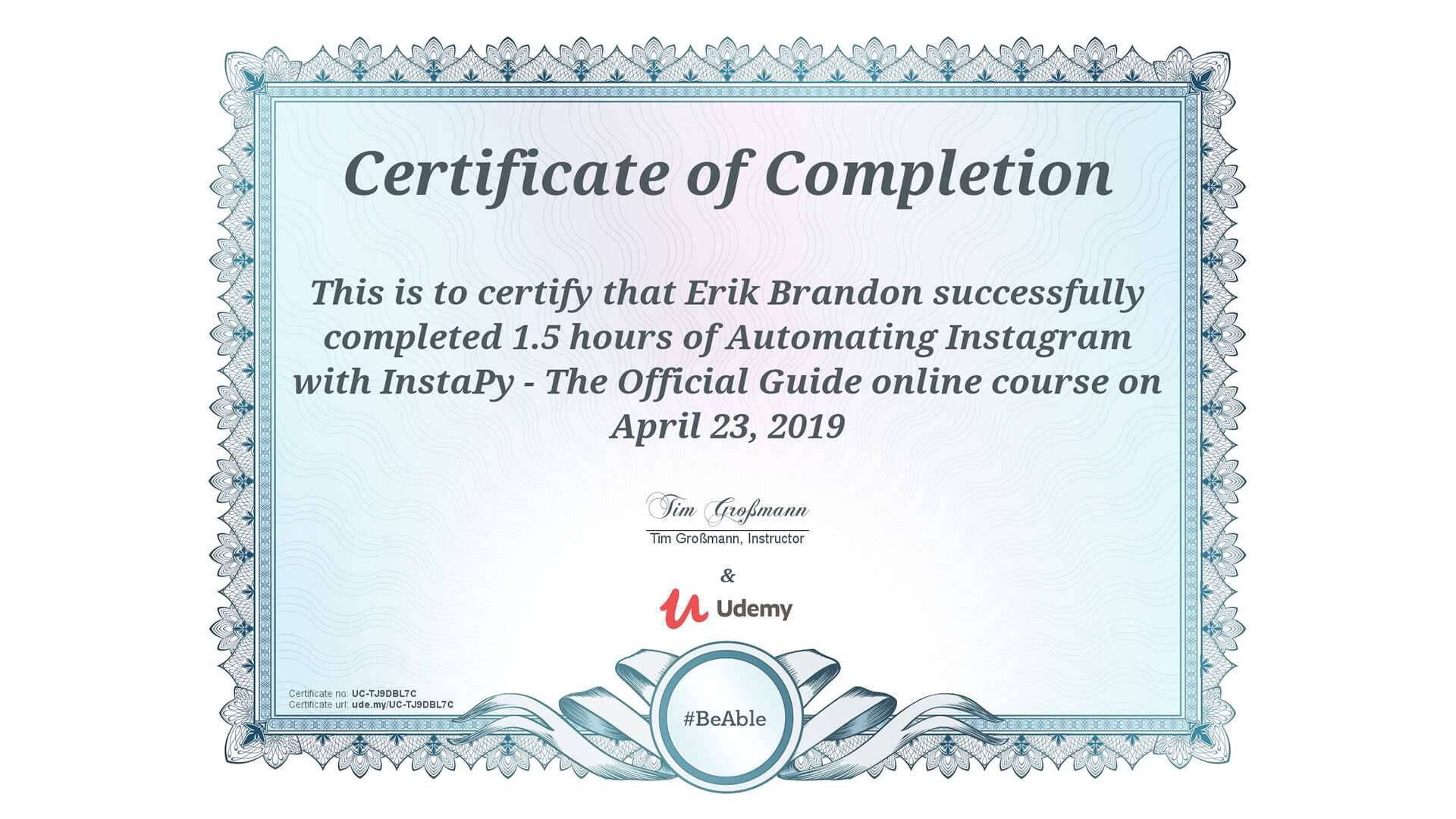 automating-instagram-with-instapy-course-completion-certificate