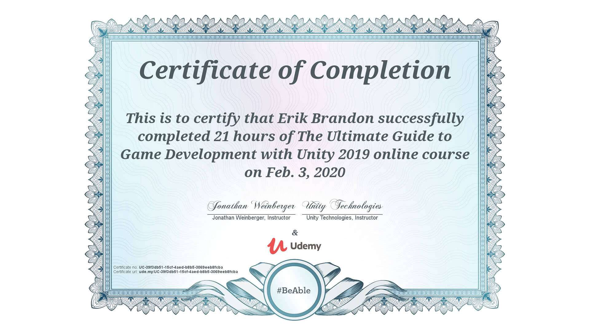 the-ultimate-guide-to-game-development-with-unity-udemy-certificate