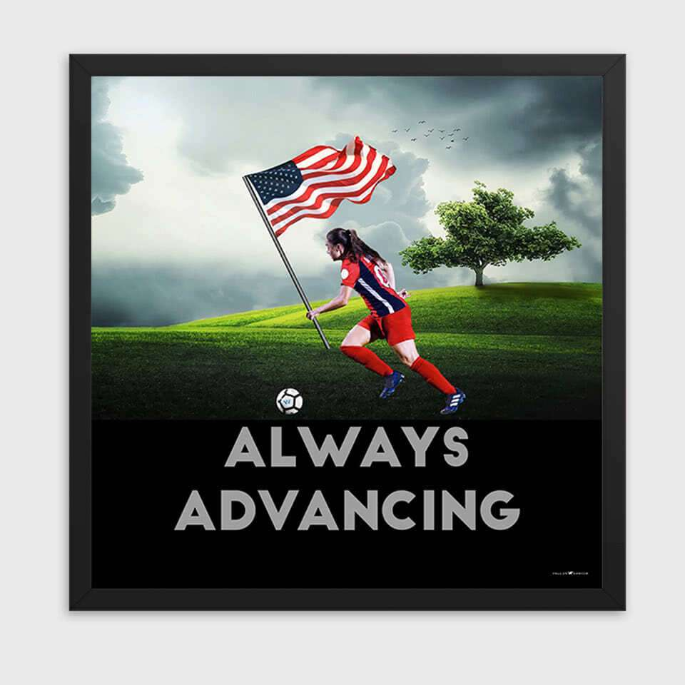 always-advancing-womens-soccer-poster